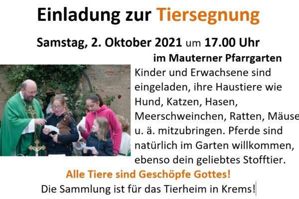 Tiersegnung 02102021